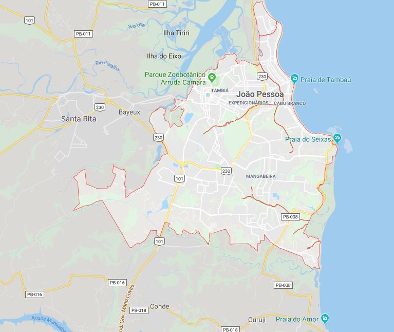 Mapa João Pessoa
