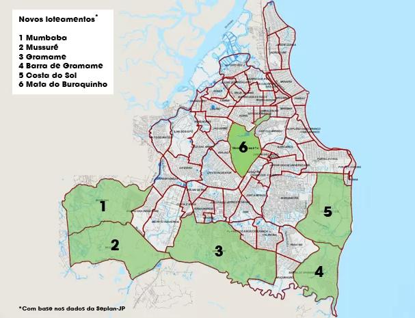 Bairros João Pessoa Mapa